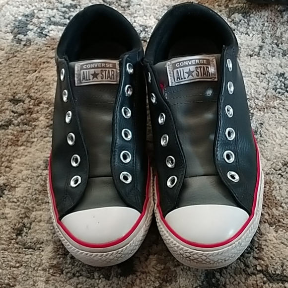 Converse Leather Slip Laceless Sneakers